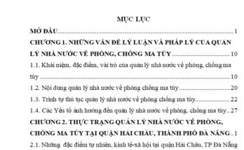luận văn quản lý nhà nước về phòng chống ma túy từ thực tiễn Quận Quận Hải Châu